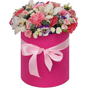 """Цветы в шляпной коробке Композиция """"Богема"""""""