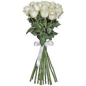 Букет из  белых роз - премиум